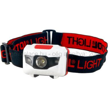 EXTOL LIGHT LED fejlámpa, 1W, 40 lumen, egy fehér és két piros leddel