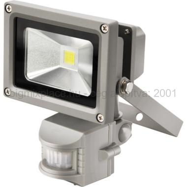 EXTOL LIGHT falra szerelhető LED lámpa, reflektor, mozgásérzékelővel, 10W