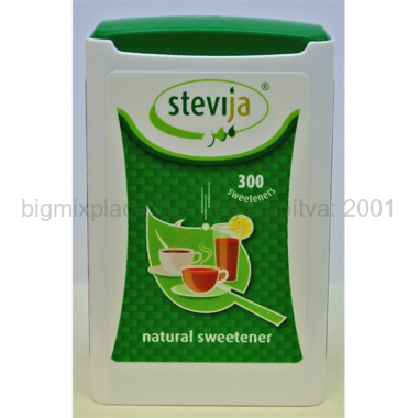 Stevia édesítő tabletta adagolós 300db-os, (Steviol Glycoside 97%)