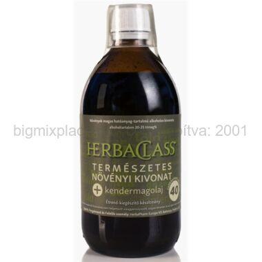 """HerbaClass természetes növényi kivonat """"40"""" + kendermagolaj 500ml"""