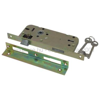 Flame beltéri bevésőzár zár kulccsal, szögletes, 45x90x20x7mm