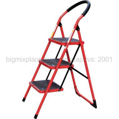 összecsukható létra, 3 lépcsős, max. magasság 68cm, acél szobalétra