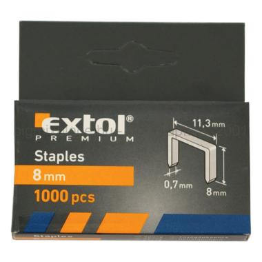 EXTOL PREMIUM tűzőgépkapocs, 1000db, 11,3x0,7x0,52mm