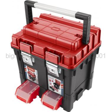 EXTOL PREMIUM, HD Profi, erős, műanyag, fémcsatos, tálcával, 440x350x440mm (8856083)
