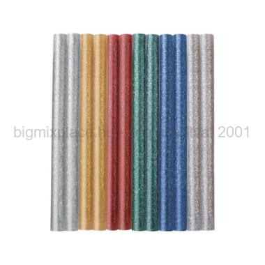 EXTOL CRAFT ragasztó stift készlet csillogó, színes, 12db, 7,2mm, cikkszám: 9910