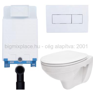 Egységcsomag Niagara, WC tartály, nyomólap, lecsapódásgátló ülőke (E-01)