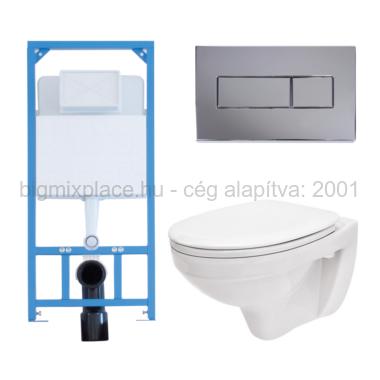 Egységcsomag Niagara Fix, beépített WC tartály, fémvázas, nyomólap, ülőke (E-04)