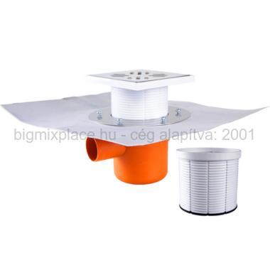 STYRON szuezszifon (padlószifon), egyágú szigetelhető (STY-501-2)