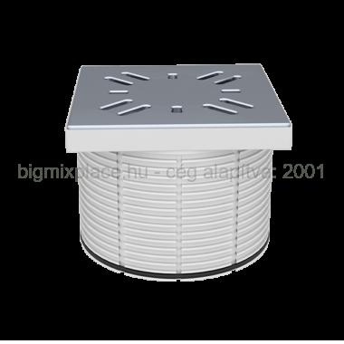 STYRON magasító padlószifonhoz, elfolyás mérete 110mm-es, fém ráccsal (STY-505-100)