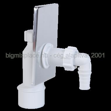 STYRON fali mosógép csatlakozó, krómozott előlappal (STY-510-K)