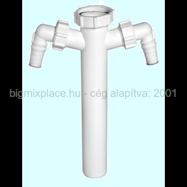 STYRON kötőcső, dupla mosógép csatlakozóval (STY-512-1)
