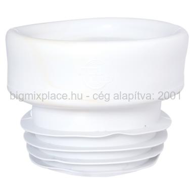 STYRON WC bekötő, egyenes, fehér, gumi (STY-530-E-G)