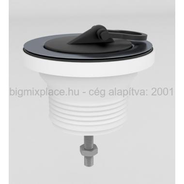STYRON leeresztőszelep dugóval, 6/4col, 70mm-es tányérral, M6x40-es csavarral (STY-543)