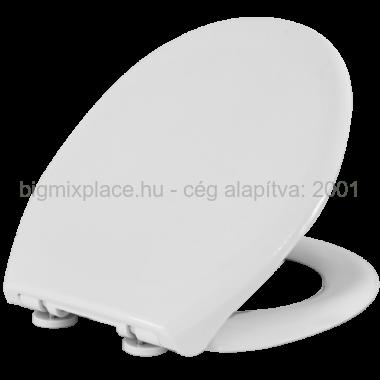 STYRON WC ülőke, lecsapódásgátlós, fehér, fém zsanérral, Duna (STY-550)