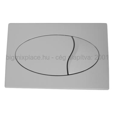 STYRON nyomólap dupla gombos, ovális, fehér, beépíthető WC tartályhoz (STY-801-1)
