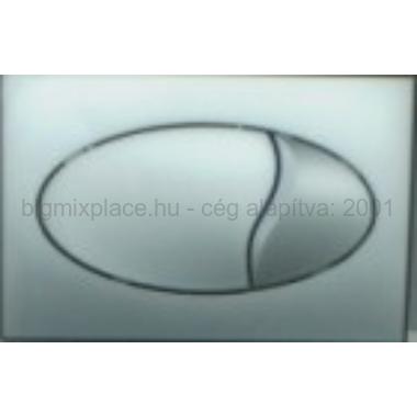 STYRON nyomólap dupla gombos, ovális, fényes, króm, beépíthető WC tartályhoz (STY-801-1)