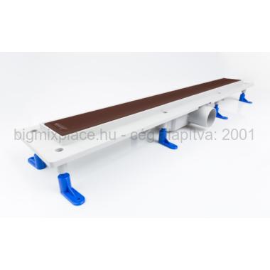 STYRON beltéri zuhanyfolyóka 700x760mm, barna festett üveggel (STY-GFB-70)