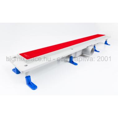 STYRON beltéri zuhanyfolyóka 700x760mm, piros festett üveggel (STY-GFP-70)