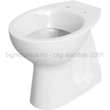 WC csésze laposöblítésű, alsó kifolyású, Cersanit