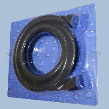 Fekete színű zuhany gégecső